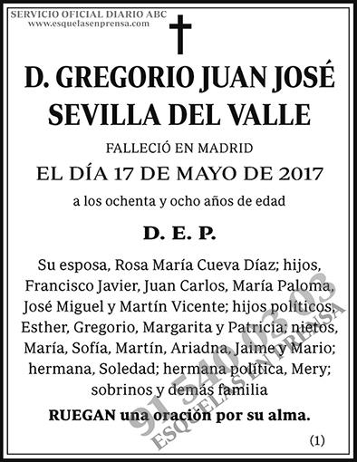 Gregorio Juan José Sevilla del Valle